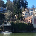 Mansions along the Willamette River.- Willamette River: George Rogers Park to Cathedral Park