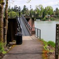 The viewing dolphin.- Roehr City Park, Lake Oswego