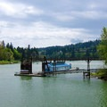 View to the Water Sports Center.- Roehr City Park, Lake Oswego