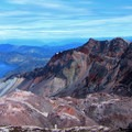 Looking over the crater.- Mount St. Helens Hike: Monitor Ridge Route