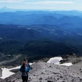 Nearing the summit and hiking in ash.- Mount St. Helens Hike: Monitor Ridge Route