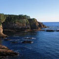 View south down the Olympic Peninsula coast.- Cape Flattery