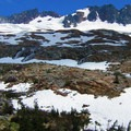 View to Boston Peak (8,894').- Forbidden Peak: West Ridge
