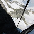 Rappeling the couloir on the way off the mountain.- Forbidden Peak: West Ridge
