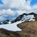 View south toward the Silver Star summit  (4,364').- Silver Star Mountain via Ed's Trail + Silver Star Trail