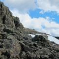 Light rock scramble nearing the summit.- Silver Star Mountain via Ed's Trail + Silver Star Trail