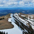View north over the trail.- Silver Star Mountain via Ed's Trail + Silver Star Trail