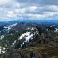 Taking a peek over the cliff.- Silver Star Mountain via Ed's Trail + Silver Star Trail