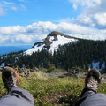 Enjoying the view to Silver Star Mountain (4,364').- Silver Star Mountain via Ed's Trail + Silver Star Trail