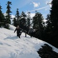 Encountering snow along the trail.- Silver Star Mountain via Ed's Trail + Silver Star Trail