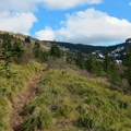 View to Silver Star Mountain (4,364') from the trail below.- Silver Star Mountain via Ed's Trail + Silver Star Trail