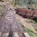 Bridge crossing on the Hide and Seek Trail.- Sandy Ridge Trail System