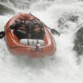 Right line at high-ish flows makes for a spinning raft. Good times.- East Fork of the Lewis River