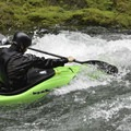 The 'flat' water is cruisy.- East Fork of the Lewis River