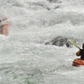 Screeming Left delivers some whiteout in the right channel at medium-high flows.- East Fork of the Lewis River
