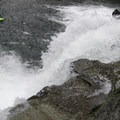 At low water, Sunset Falls has a more technical lip but a great auto-boof.- East Fork of the Lewis River