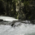 Looking downstream into the gorge.- East Fork of the Lewis River
