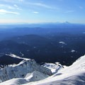 View south from Mount Hood's summit.- Mount Hood South Route: Old Chute