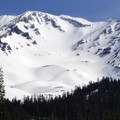 View of Mount Shasta (14,179') from near the Bunny Flat parking area.- Mount Shasta: Avalanche Gulch