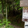 Brice Creek Trailhead.- Brice Creek Trail, Champion Creek Trailhead to Lund Campground Hike