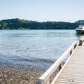 The Area A boat ramp in the unrestricted section of the lake.- Henry Hagg Lake Canoe/Kayak