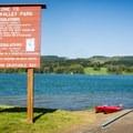 The Area C boat ramp in the no-wake zone of Henry Hagg Lake.- Henry Hagg Lake Canoe/Kayak