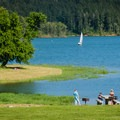 Henry Hagg Lake's no-wake zone is great for sailboats.- Scoggins Valley Park