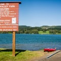 The boat ramp in Area C is in the lake's no-wake zone.- Scoggins Valley Park