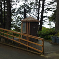 Restrooms at the parking lot.- Hug Point State Recreation Site