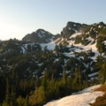 View south from the ridge above American Lake.- Dewey + Anderson Lakes
