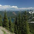 View looking southeast toward Dewey Lake.- Tipsoo Lake + Naches Peak Loop Trail