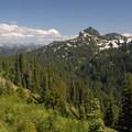 View looking southeast at Seymour Peak (6,337').- Tipsoo Lake + Naches Peak Loop Trail