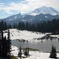 Tipsoo Lake and Mount Rainier (14,409').- Tipsoo Lake + Naches Peak Loop Trail