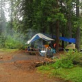Typical campsite.- Fowler's Campground