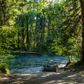 The boat ramp at Blue River.- McKenzie River: Paradise to Blue River