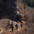 The hike is popular in all seasons.- Angels Rest + Foxglove Way Hike