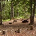 A typical campsite.- Ice Cap Campground