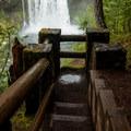 Koosah Falls viewpoint.- Koosah Falls