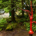 Potable water is available on the lower level.- Olallie Campground