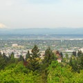 View looking north over Northwest Portland with Mount St. Helens (8,366') in the distance.- Marquam Nature Park + Trail
