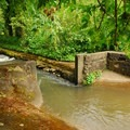 Original concrete work and diversion canal from Scotts Mills.- Scotts Mills County Park