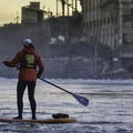 Making the way up to Willamette Falls.- Willamette Falls Canoe/Kayak