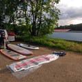 Getting set up near Jon Storm Park.- Willamette Falls Canoe/Kayak