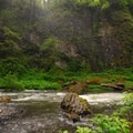 Abiqua Creek canyon.- Abiqua Falls