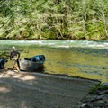 The boat ramp at Paradise Campground.- McKenzie River: Olallie to Paradise