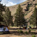 A typical larger camp.- John Day River: Clarno to Cottonwood Bridge