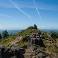 The summit of Spencer Butte (2,058 ft).- Spencer Butte Hike