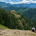 The mountain meadows are great spots for lunch.- Gold Point Trail