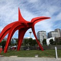 Eagle, by artist Alexander Calder.- Olympic Sculpture Park
