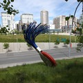 Typewriter Eraser, Scale X, by artists Claes Oldenburg and Coosje van Bruggen.- Olympic Sculpture Park